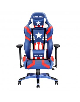 Anda Seat Special Edition Large Gaming Chair with 4D Armrest (Blue/Red/White)