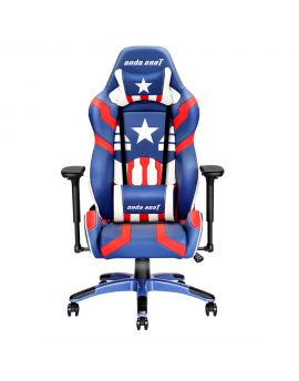 Anda SeatSpecial Edition Large Gaming Chair with 4D Armrest (Blue/Red/White)